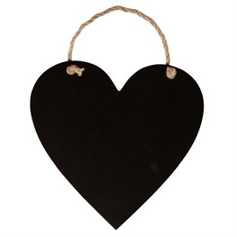 Hanging Heart Chalkboard Small