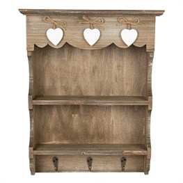 Ashley Farmhouse Wall Display Unit with Hooks