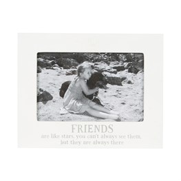 Friends Are Like Stars Photo Frame White