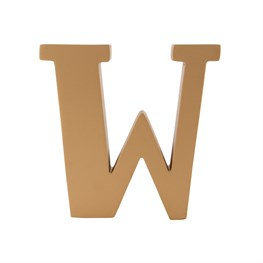 Gold Wooden Letter W Standing Decoration