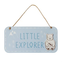 Bear Camp Little Explorer Hanging Plaque