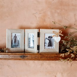 Ashley Farmhouse Mini Triple Photo Frame