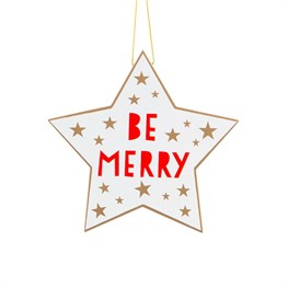 Be Merry Star Hanging Decoration