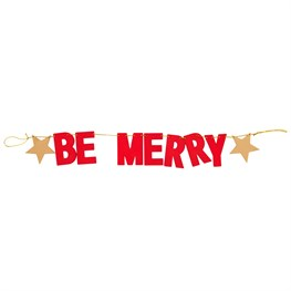 Red Be Merry Xmas Wooden Bunting