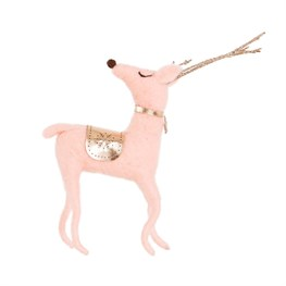 Pink & Gold Wonderland Felt Deer Decoration