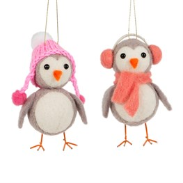 Penguin Winter Wear Hanging Decoration Assorted