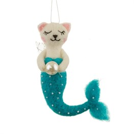 Wonderland Cat Purrmaid Hanging Felt Decoration