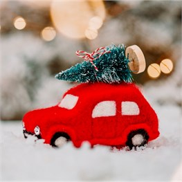 Traditional Christmas Car Hanging Felt Decoration