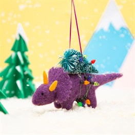 Roarsome Dinosaur Christmas Tree Hanging Felt Decoration
