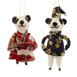 Oriental Panda Hanging Felt Decoration Assorted