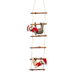 Sloths on Ladder Felt Decoration