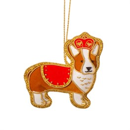 London Corgi Zari Embroidery Decoration