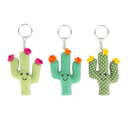 Happy Cactus Keyring Assorted