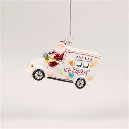 Ice Cream Truck Santa Bauble