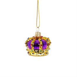 Heritage Purple Royal Crown Shaped Bauble