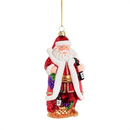 Vineyard Wine Santa Shaped Bauble