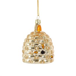Honey Gold Beehive Shaped Bauble