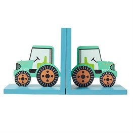 Green Tractor Bookends