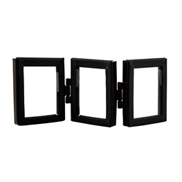 Monochrome Black Mini Triple Photo Frame