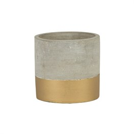 Mini Tuva Gold Dip Cement Planter