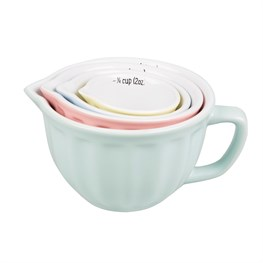 Retro Pastel Measuring Cups - Set of 4
