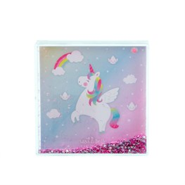 Rainbow Unicorn Glitter Photo Block