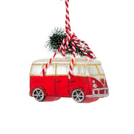 Coming Home For Xmas Love Camper Van Decoration