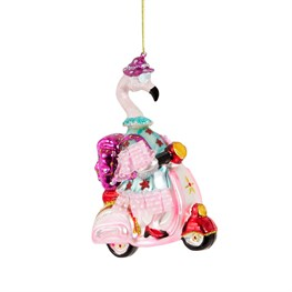Scoot Scoot Granny Flamingo Hanging Decoration