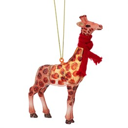 Christmas Giraffe Shaped Bauble