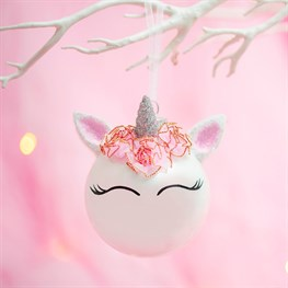 Unicorn Flower Crown Bauble
