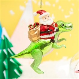 Dinosaur and Santa Shaped Bauble