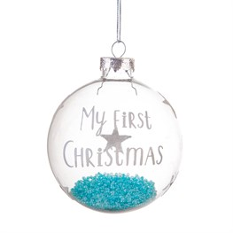 Baby Boy First Christmas Bauble