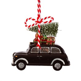 London Christmas Black Cab Shaped Bauble