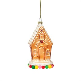Fairytale Gingerbread House Shaped Bauble