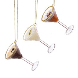 Martini Cocktail Baubles - Set of 3