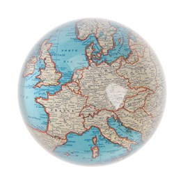 Vintage Map Paperweight