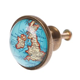 Vintage Map Drawer Knob Small