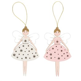 Christmas Fairy Hanging Decoration Assorted