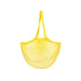 Mustard Yellow String Shopper Bag