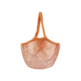 Burnt Orange String Shopper Bag