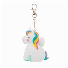 Rainbow Unicorn Light Up Keyring