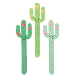 Colourful Cactus Nail File Assorted