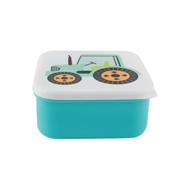 Green Tractor Square Lunch Box