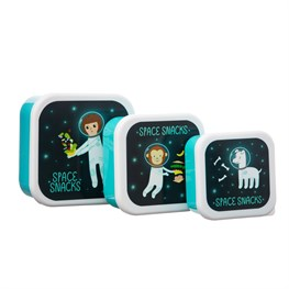 Space Explorer Lunch Boxes - Set Of 3