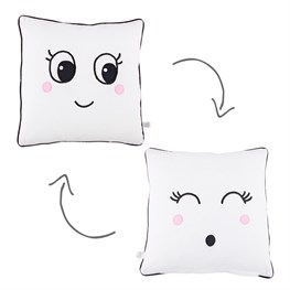 Fun Faces Girl Cushion with Inner