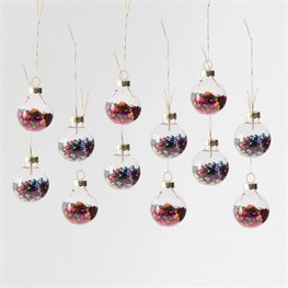 Set of 12 Mini Disco Stars Baubles