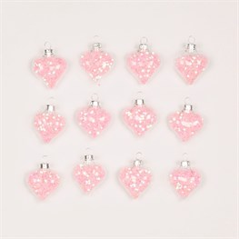 Set of 12 Pink Confetti Sequin Baubles