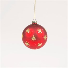 Red & Gold Shining Star Heirloom Bauble