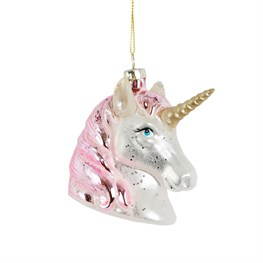 Pink Shimmer Unicorn Head Hanging Decoration