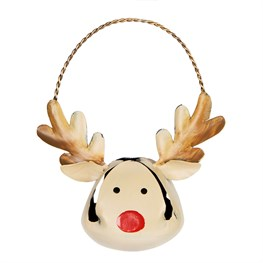 Ding Dong Rudi the Reindeer Bell Hanging Decoration